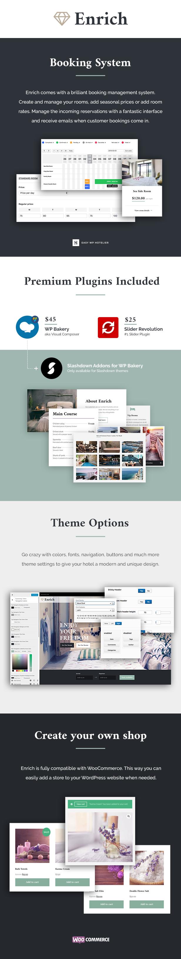 Enrich – Hotel Booking WordPress Theme
